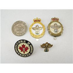 CANADIAN FORCES CAP BADGES & PIN
