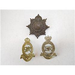 BRITSH ARMY CAP/COLLAR BADGES
