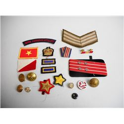 ASSORTED BADGES & RIBBONS
