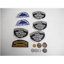 ASSORTED POLICE & FIRE BADGES