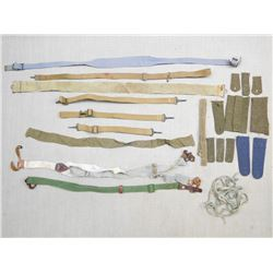 ASSORTED CANVAS BELTS AND STRAPS