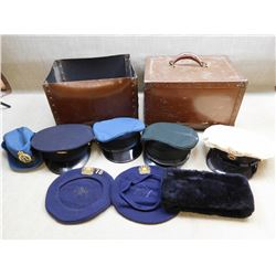 ASSORTED HATS & HAT BOX