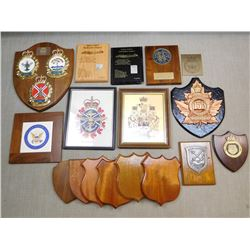 ASSORTED PLAQUES AND MOUNTS
