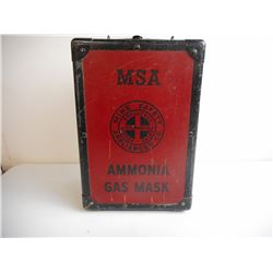 MSA AMMONIA GAS MASK WITH CASE