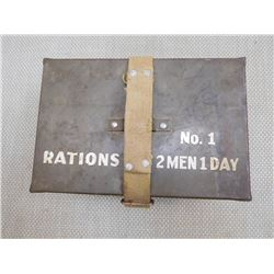 MILITARY RATIONS TIN