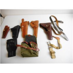 ASSORTED HOLSTERS & ACCESSORIES