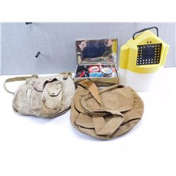 ASSORTED FISHING LOT & BAGS