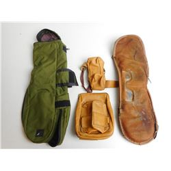 ASSORTED LOT INCL CHAMPIONS CHOICE SPOTTING SCOPE COVER, B & L LEATHER SPOTTING SCOPE COVER