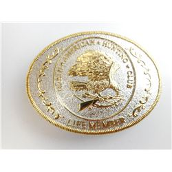 NORTH AMERICAN  HUNTING CLUB LIFE MEMBER BELT BUCKLE