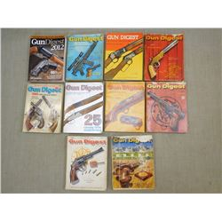 ASSORTED GUN DIGEST BOOKS
