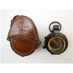 WWI ERA COMPASS AND LEATHER CASE