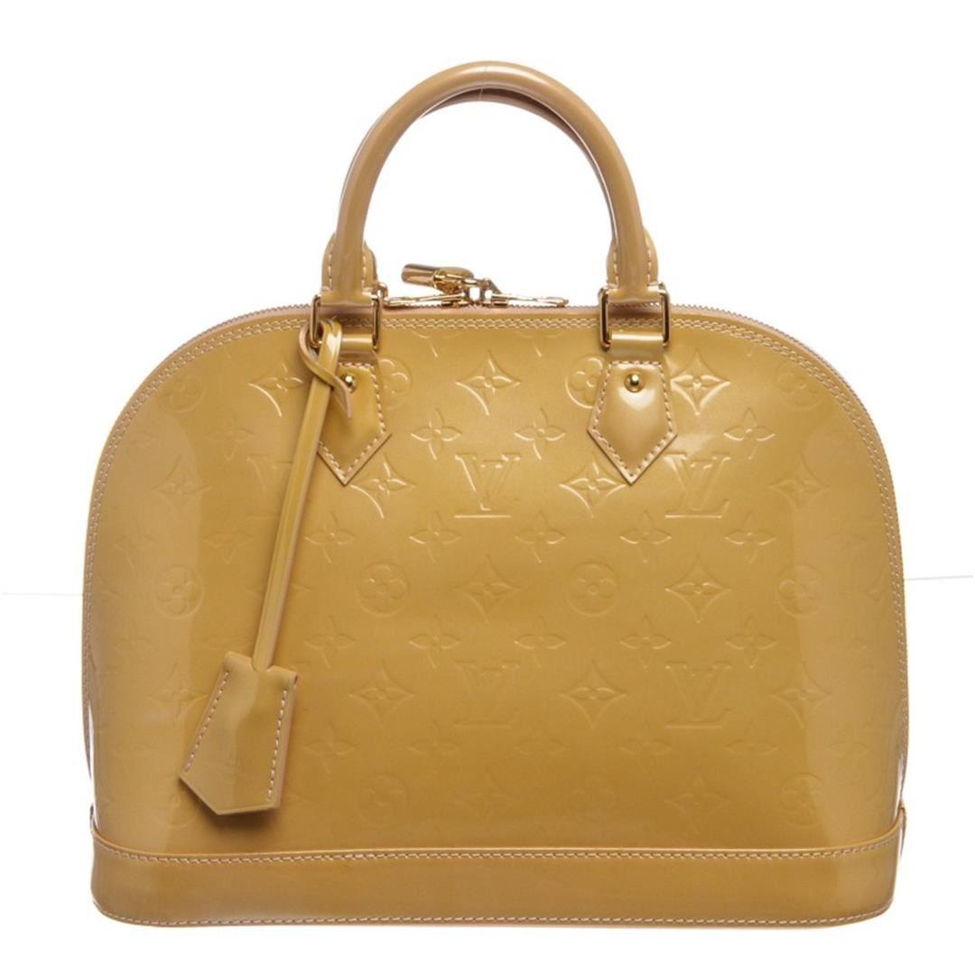 f657f98bec87 Image 1   Louis Vuitton Yellow Vernis Leather Monogram Alma PM Bag ...