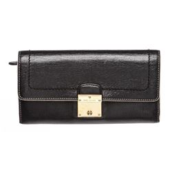Marc Jacobs Black Leather Long Wallet