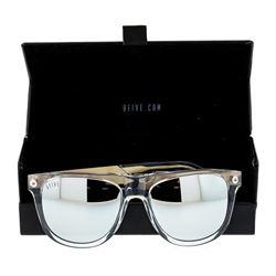 Stainless Steel 9-Five Sunglasses With Custom Diamond Finish