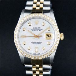 Rolex Two-Tone MOP Diamond DateJust Men's Watch