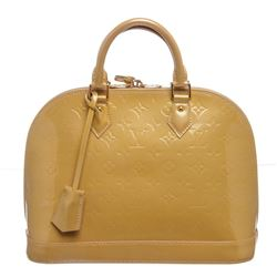 Louis Vuitton Yellow Vernis Leather Monogram Alma PM Bag