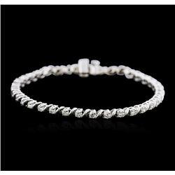 14KT White Gold 2.23 ctw Diamond Tennis Bracelet
