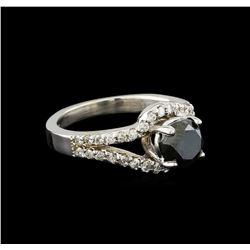 1.94 ctw Black Diamond Ring - 14KT White Gold