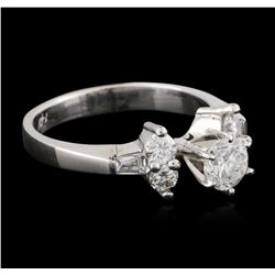 14KT White Gold 0.73 ctw Diamond Ring