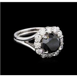 4.25 ctw Black Diamond Ring - 14KT White Gold