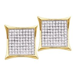 0.90 CTWDiamond Kite Cluster Earrings 10KT Yellow Gold - REF-33F8N