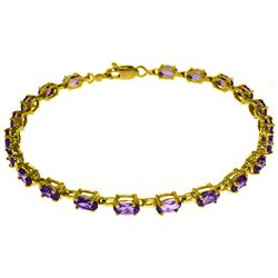 Genuine 5.5 ctw Amethyst Bracelet Jewelry 14KT White Gold - REF-96W4Y