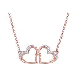 0.06 CTW Diamond Heart Love Pendant 10KT Rose Gold - REF-12W2K