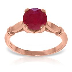 Genuine 2 ctw Ruby Ring Jewelry 14KT Rose Gold - REF-58H3X