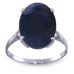 Genuine 8.5 ctw Sapphire Ring Jewelry 14KT White Gold - REF-85H2X