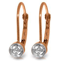 Genuine 0.03 ctw Diamond Anniversary Earrings Jewelry 14KT Rose Gold - REF-22N8R