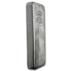 Genuine 1 kilo 0.999 Fine Silver Bar - Asahi Refining