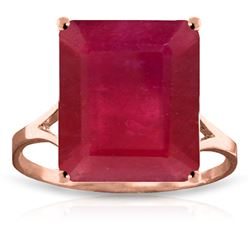 Genuine 7.5 ctw Ruby Ring Jewelry 14KT Rose Gold - REF-87F2Z