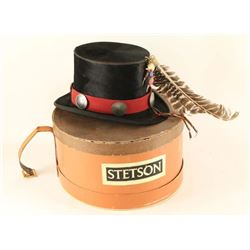 Antique Beaver Felt Top Hat