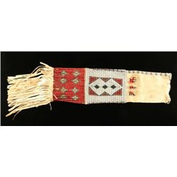 Early 1900's beaded and quilled pipe bag