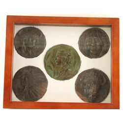 5 Joe Neil Beeler Bronze Medallions