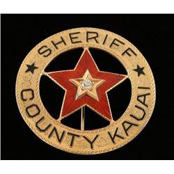 Sheriff's Badge of Kauai