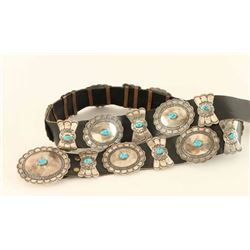 Navajo sterling & Turquoise Concho Belt