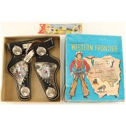 Vintage Western Frontier Holster Set