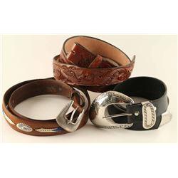 Lot of 3 Western Belts