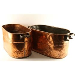 Lot of 2 Copper Tubs