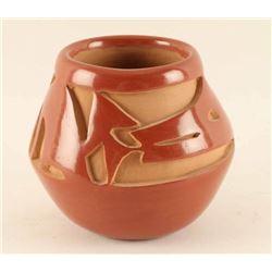 Santa Clara Incised Carved Pot