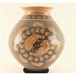 Beautiful Mixed Claw Swirled Pottery Vessel
