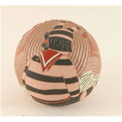 Incised Carved Pottery Ball