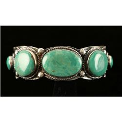 Old Pawn Cuff Turquoise Handmade Bracelet