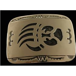 Navajo Sterling Bear Paw Belt Buckle