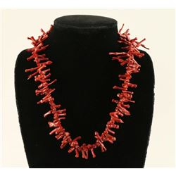 Native American Branch Coral Necklace