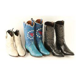 Three Pairs Cowboy Boots