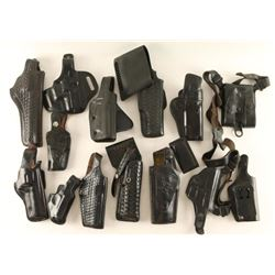 Lot of Black Leather Holsters