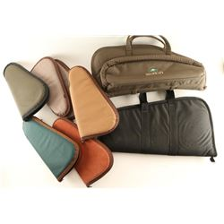Lot of 8 Large Pistol Cases.