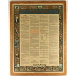 Large Lithographic Print of the U.S. Constitution